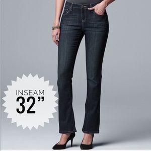 Women's SIMPLY VERA WANG Luxury Bootcut Jeans